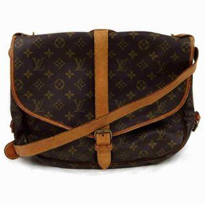 Auth Louis Vuitton Saumur 35 Crossbody #6447L28